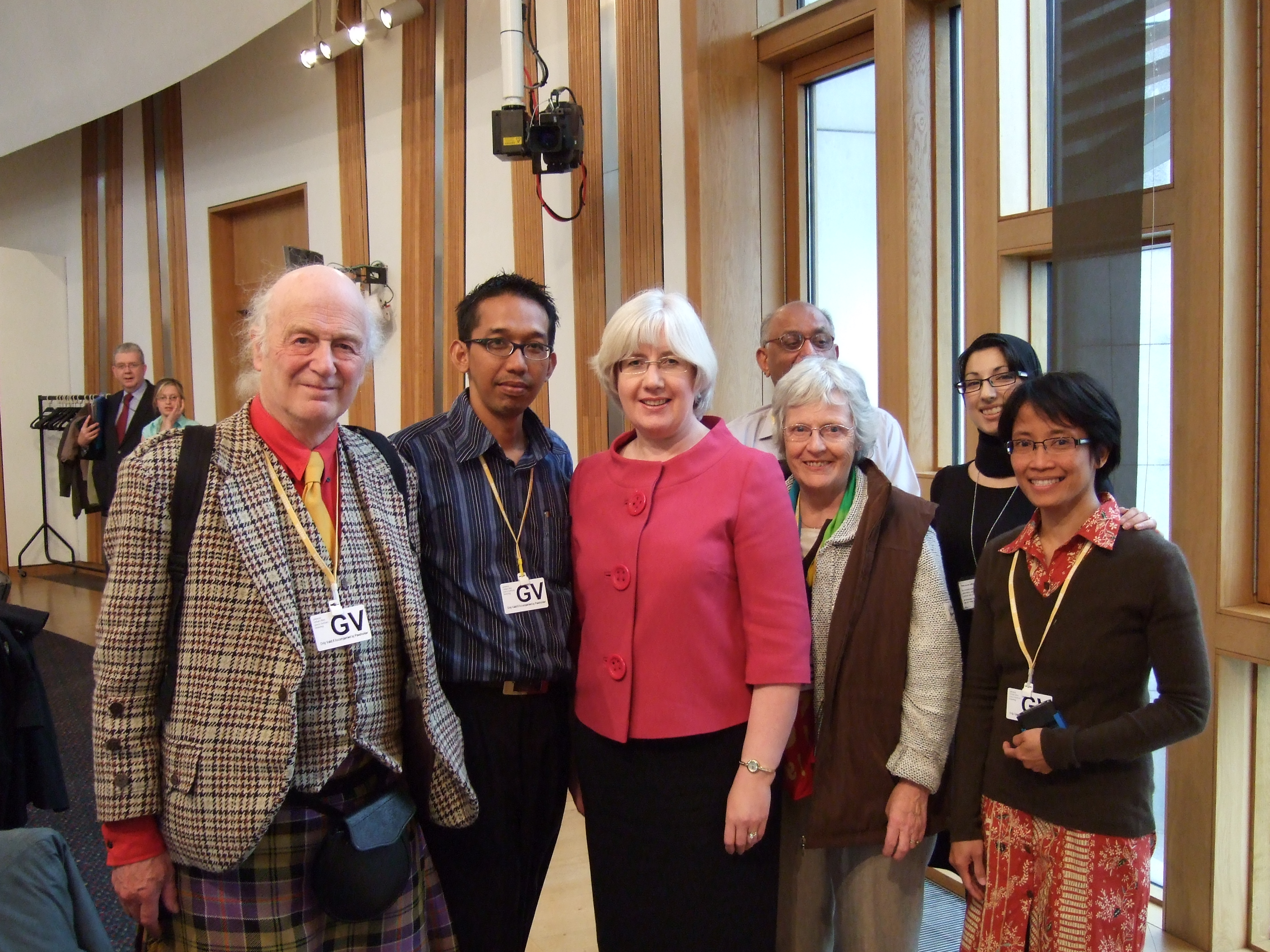 Patricia Ferguson MSP, with Ardi and Adriana and others, Scottish parliament
