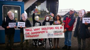 Skeleton protesters at Lib Dem conference 2013