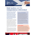 Debt Justice and the Independence Referendum