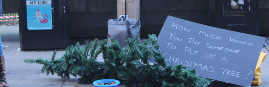 On the street with our Xmas Campaign